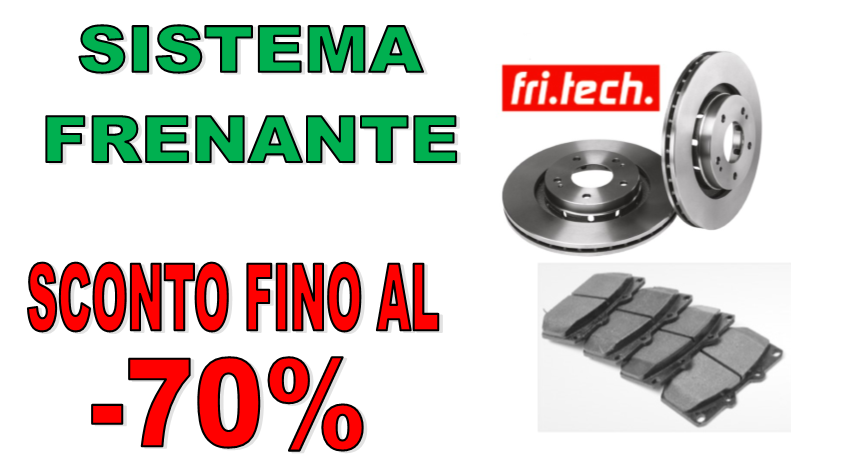 SCONTO FRENI FRI.TECH.